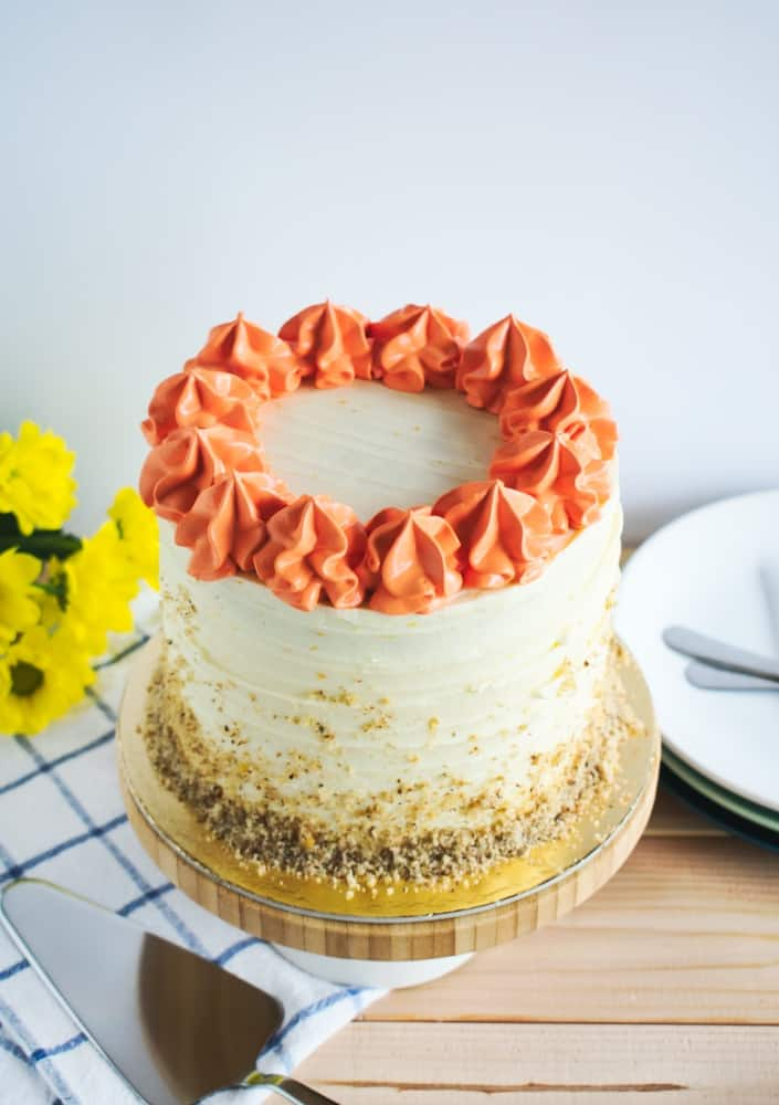 Carrot Cake With Orange Cream Cheese Frosting Ana S Baking Chronicles