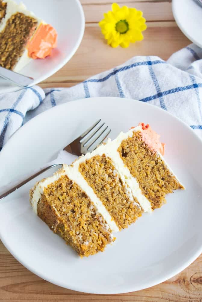 Carrot Cake with Orange Cream Cheese Frosting | Ana's Baking