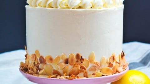 Magnificent Almond Lemon Cake Anas Baking Chronicles Personalised Birthday Cards Epsylily Jamesorg