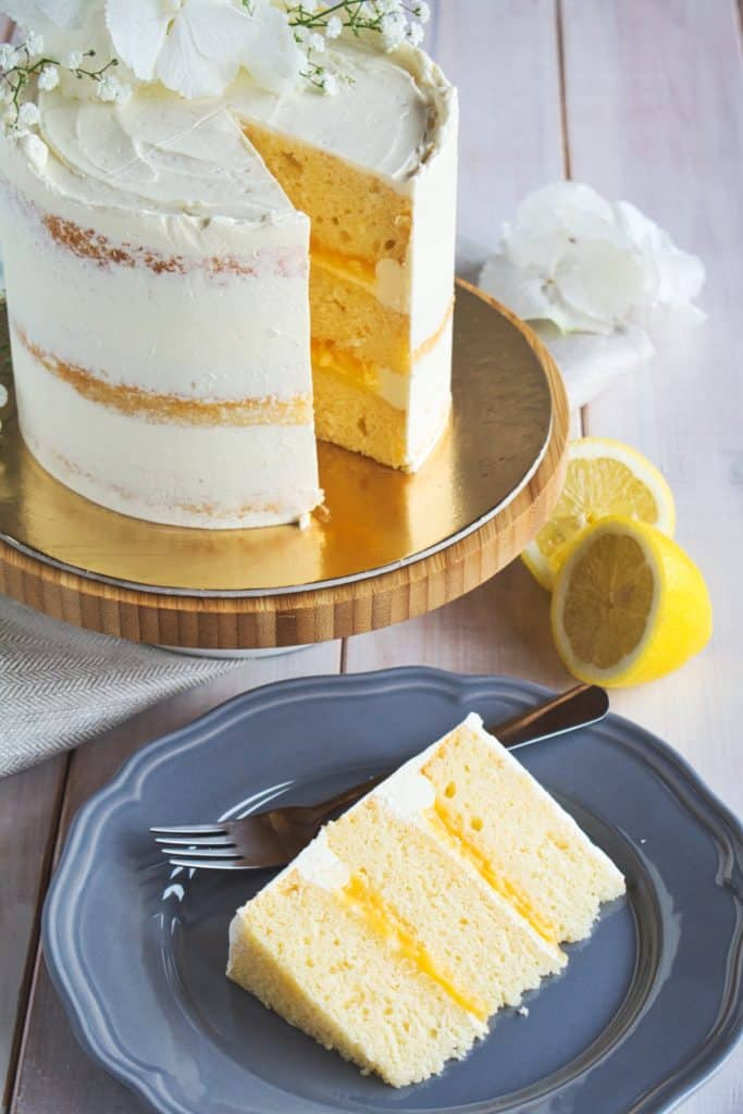 Lemon Elderflower (Royal Wedding) Cake - Ana\'s Baking Chronicles