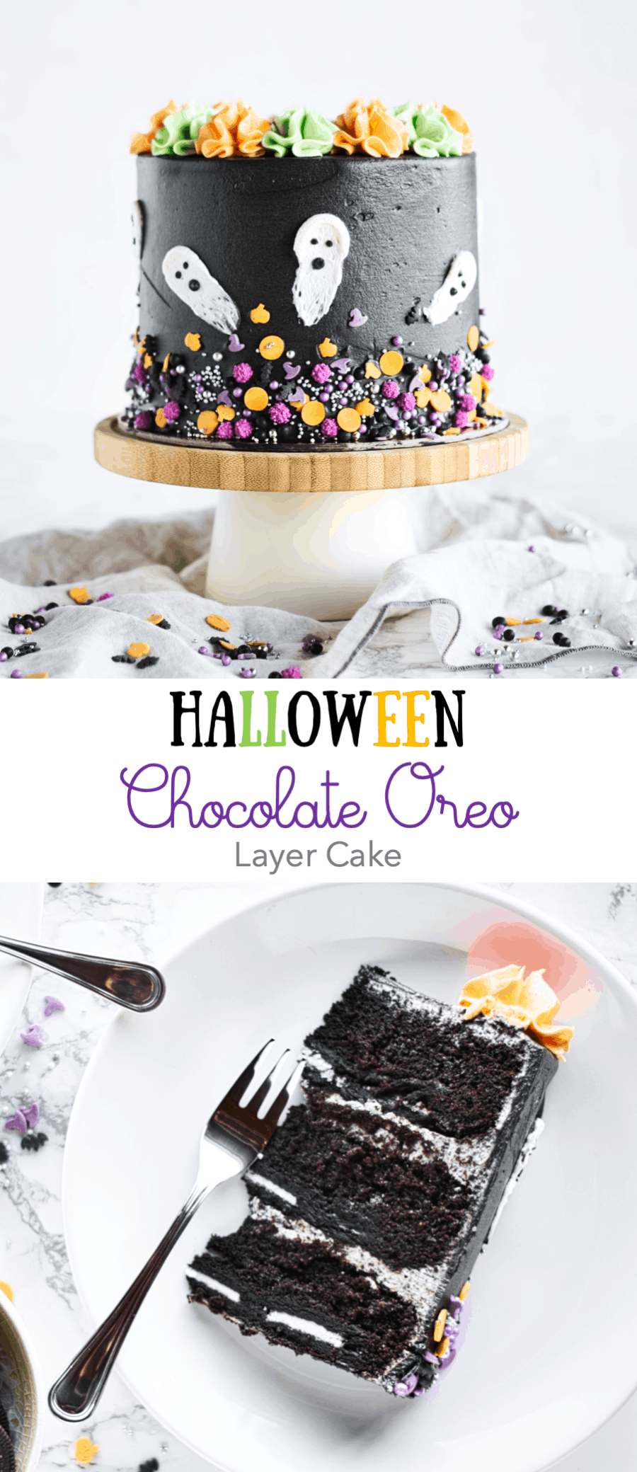 Chocolate Oreo Cake – Halloween Edition!