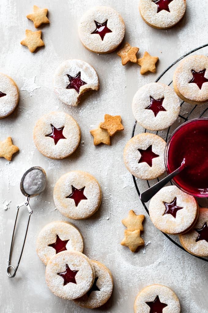 Linzer Cookies With Homemade Raspberry Jam
