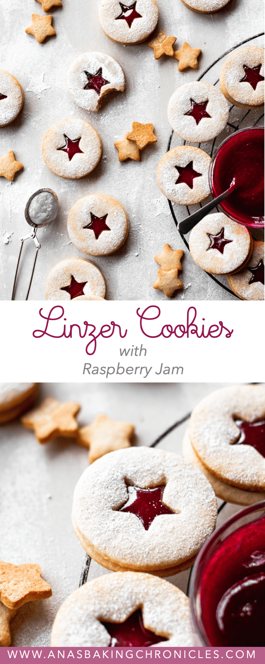 Linzer Cookies with Homemade Raspberry jam