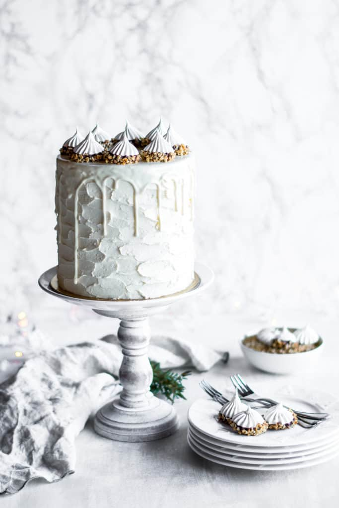 Chocolate Hazelnut Winter Wonderland Cake Ana S Baking