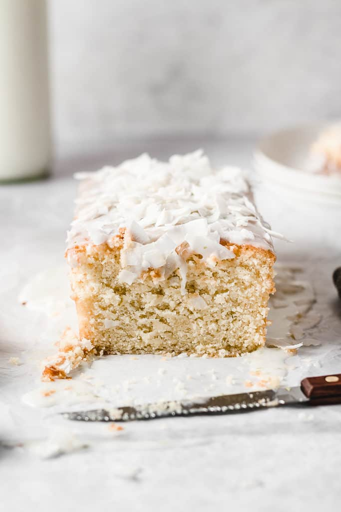 This Coconut Lime cake is super moist and tender, made with real coconut milk and lime juice. You can even make it dairy free! ⎪www.anasbakingchronicles.com