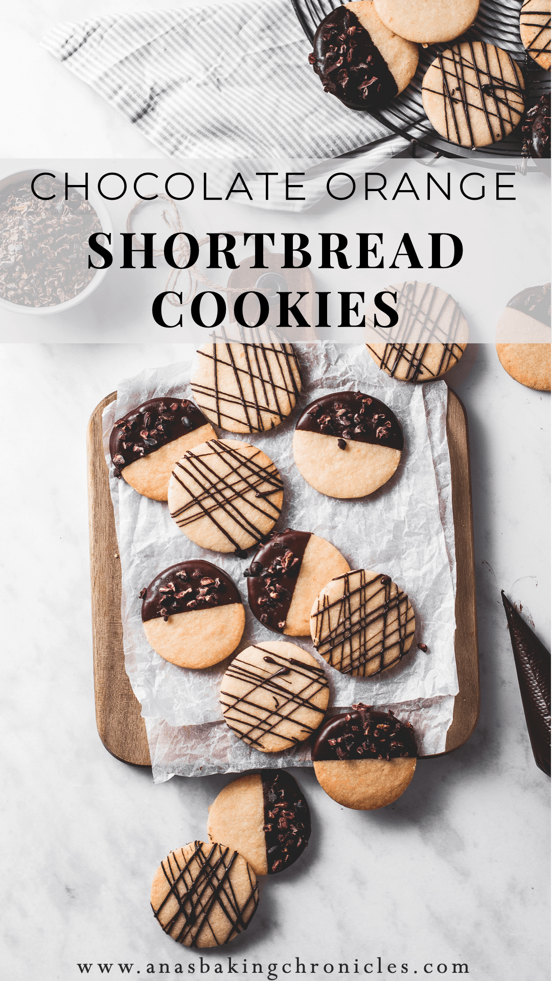 These buttery, melt-in-your-mouth orange shortbread cookies are dipped in chocolate and incredibly easy to make - a classic with a twist!⎪www.anasbakingchronicles.com
