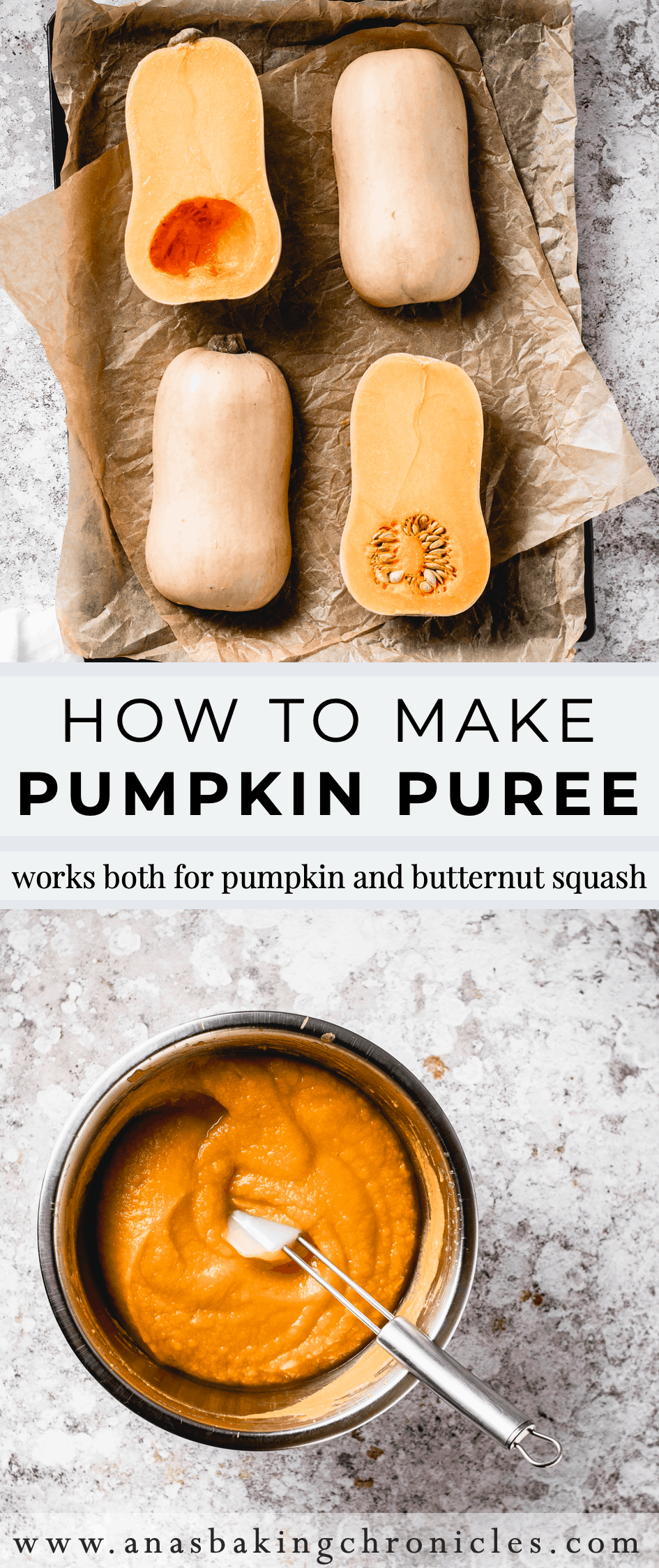 Homemade pumpkin puree is one of the easiest things to make. You can use it both in sweet and savoury dishes and I\'m going to show you how to make it! ⎪www.anasbakingchronicles.com