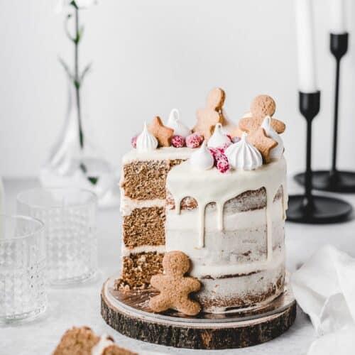 Enjoyable Gingerbread Orange Layer Cake Anas Baking Chronicles Funny Birthday Cards Online Hetedamsfinfo