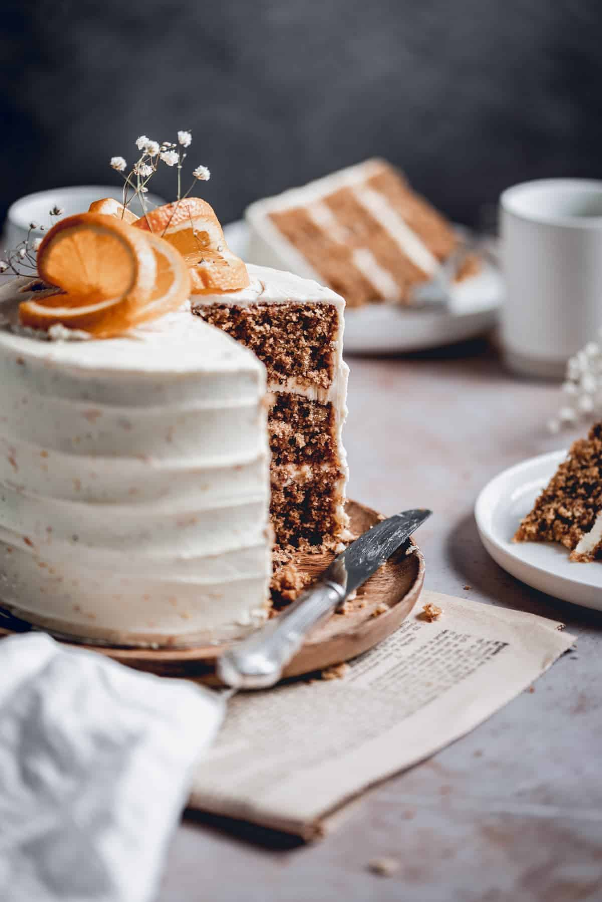 Carrot Cake with Cream Cheese Frosting | Ana's Baking ...