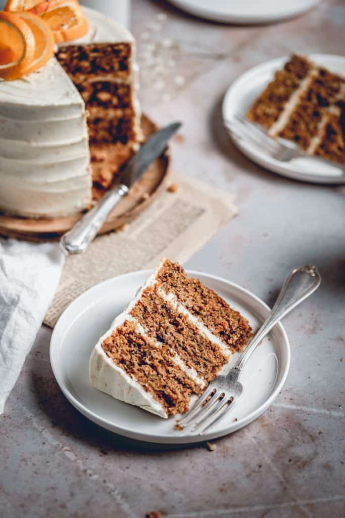 This delicious Carrot Cake is the perfect choice for special occasions. Packed full of flavour, it's paired with tangy Orange Cream Cheese frosting.